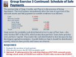 group exercise 3 continued schedule of safe payments1