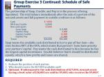 group exercise 3 continued schedule of safe payments2