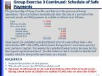 group exercise 3 continued schedule of safe payments3