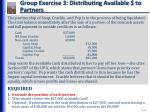 group exercise 3 distributing available to partners
