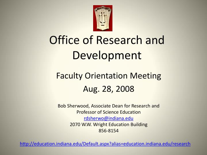 office of research and development n.