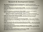 research development centers