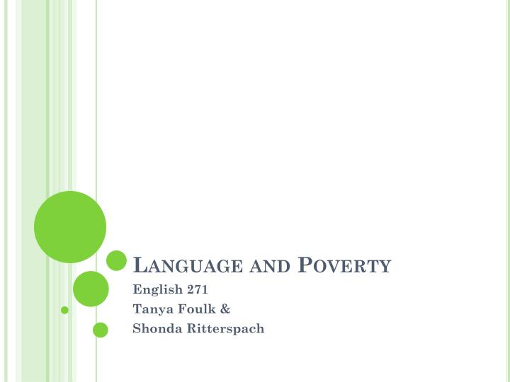language and poverty n.