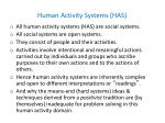 human activity systems has