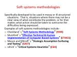soft systems methodologies