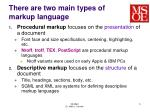 there are two main types of markup language