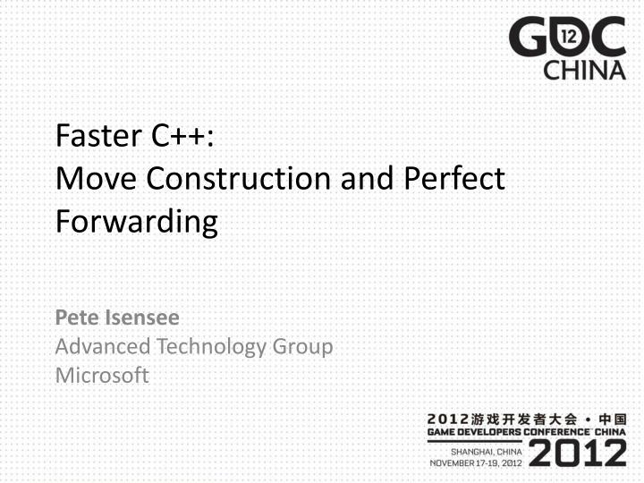 faster c move construction and perfect forwarding n.