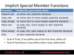 implicit special member functions