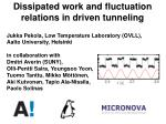 dissipated work and fluctuation relations in driven tunneling