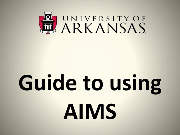 guide to using aims n.