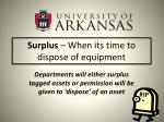 surplus when its time to dispose of equipment