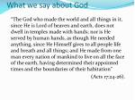 what we say about god1