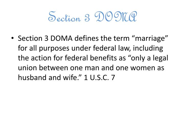 Section 3 DOMA