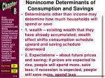 nonincome determinants of consumption and savings