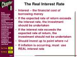 the real interest rate