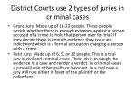 district courts use 2 types of juries in criminal cases