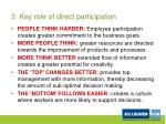2 key role of direct participation