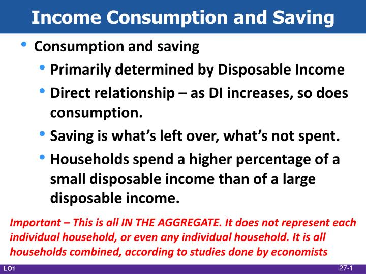 income consumption and saving n.