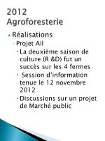 2012 agroforesterie