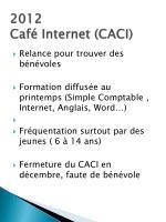 2012 caf internet caci