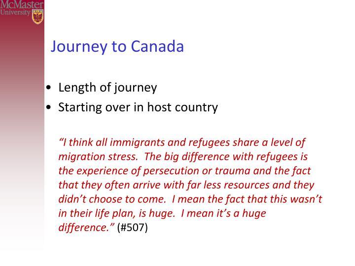 Journey to Canada