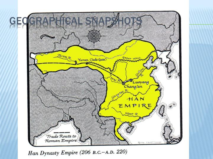 Geographical snapshots1