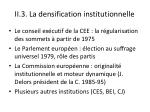 ii 3 la densification institutionnelle