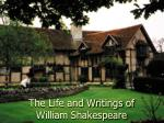 the life and writings of william shakespeare