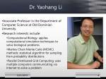 dr yaohang li