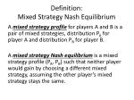 definition mixed strategy nash equilibrium