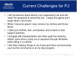 current challenges for pj