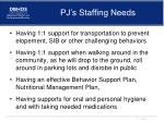 pj s staffing needs
