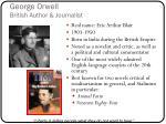 george orwell british author journalist
