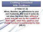 clothing consistent with godliness