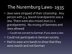 the nuremburg laws 1935