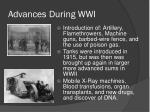 advances during wwi