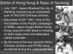 battle of hong kong rape of nanking