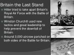 britain the last stand