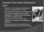 causes of the great depression cont