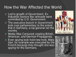 how the war affected the world
