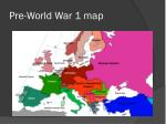 pre world war 1 map