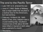 the end to the pacific terror