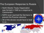the european response to russia