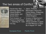 the two areas of conflict