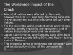 the worldwide impact of the crash