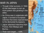 war in japan