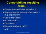 co morbidities resulting from