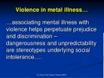 violence in metal illness