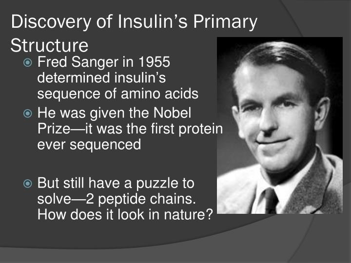 discovery of insulin Sir frederick banting was one of the twentieth century's most celebrated medical heroes his discovery of insulin, made with his assistant charles best and.