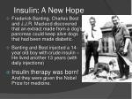 insulin a new hope
